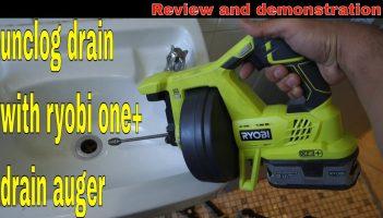 Ryobi one+ 18v drain auger
