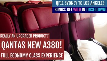 QANTAS NEW A380 ECONOMY CLASS