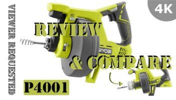 Ryobi 18-Volt ONE+ Drain Auger P4001 – REVIEW