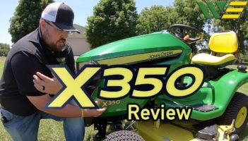 Deere X350 Riding Lawn Tractor Mower Review
