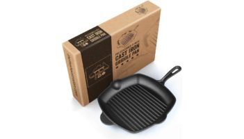 Pre-Seasoned Cast Iron Grill Skillet Pan 12 Inch Review